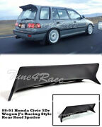 For 88-91 Honda Civic Wagon 5dr Jand039s Racing Rear Roof Spoiler Wing Body Kit Ef