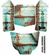 Axial Bomber Skin Decal Wrap Rusted Metal Panel Skinz Sticker Ultradecal