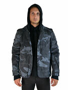 Tripp Military Goth Army Gray Camo 2pc In 1 Gothic Coat Hoodie Jacket Af3832m