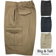 Big And Tall Menand039s Falcon Bay Cargo Shorts Expandable Waistband 2xl - 10xl 450