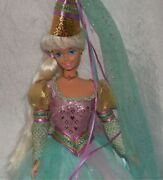 1994 Barbie Children Collection 1st Ed Princess Rapunzel Doll W/gown Hat And Shoes