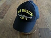 Uss Boston Cag-1 Navy Ship Hat U.s Military Official Ball Cap U.s.a Made
