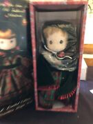 """1991 The Enesco Precious Moments 14"""" Doll Have An Old-fashioned Christmas  Nib"""