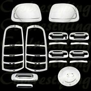99-02 Chevy Silverado Chrome Covers Mirror Door Handle Tailgate Taillight Gas N