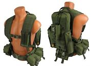 Green Od Molle Paintball Modular Vest Airsoft Chest Rig Olive Kit №33 Sniper