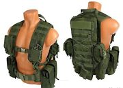 Tactical Molle Pals Paintball Vest Airsoft Chest Rig Emr Rus Pixel Kit №38