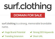 Surf.clothing Premium Brand Domain Name For Surf Clothing And Surfer Wear