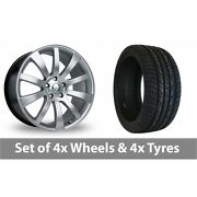 4 X 20 Riva Suv Hyper Silver Alloy Wheel Rims And Tyres - 275/40/20