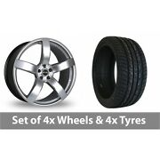 4 X 20 Riva Fwd Hyper Silver Alloy Wheel Rims And Tyres - 275/40/20