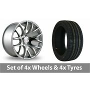 4 X 18 Threesdm 0 01 Silver Polished Alloy Wheel Rims And Tyres - 235/40/18