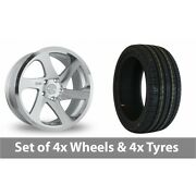 4 X 19 Threesdm 0 06 Silver Polished Alloy Wheel Rims And Tyres - 245/35/19