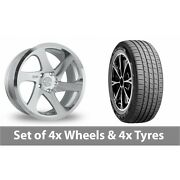 4 X 19 Threesdm 0 06 Silver Polished Alloy Wheel Rims And Tyres - 255/55/19