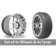 4 X 20 Threesdm 0 08 Silver Polished Alloy Wheel Rims And Tyres - 275/35/20