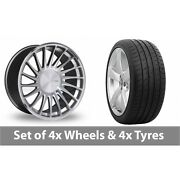 4 X 19 Threesdm 0 04 Silver Polished Alloy Wheel Rims And Tyres - 285/30/19