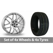 4 X 19 Drc Drm Silver Alloy Wheel Rims And Tyres - 245/45/19