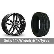 4 X 18 Gmp Italy Atom Black Polished Alloy Wheel Rims And Tyres - 255/40/18