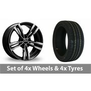 4 X 19 Gmp Italy Reven Black Polished Alloy Wheel Rims And Tyres - 235/35/19