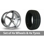4 X 17 Ac Wheels Star Five Grey Alloy Wheel Rims And Tyres - 245/45/17