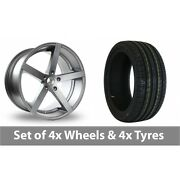 4 X 17 Ac Wheels Star Five Grey Alloy Wheel Rims And Tyres - 215/50/17