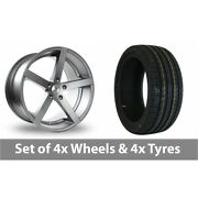 4 X 18 Ac Wheels Star Five Grey Alloy Wheel Rims And Tyres - 225/50/18