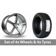 4 X 18 Ac Wheels Star Five Grey Alloy Wheel Rims And Tyres - 255/35/18