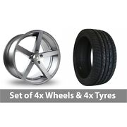 4 X 22 Ac Wheels Star Five Grey Alloy Wheel Rims And Tyres - 295/30/22