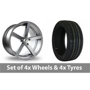 4 X 19 Ac Wheels Star Five Grey Alloy Wheel Rims And Tyres - 245/45/19