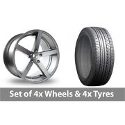 4 X 19 Ac Wheels Star Five Grey Alloy Wheel Rims And Tyres - 225/45/19