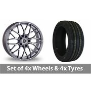 4 X 19 Ac Wheels Saphire Silver Alloy Wheel Rims And Tyres - 225/35/19