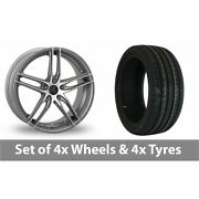 4 X 16 Ac Wheels Shot Grey Polished Alloy Wheel Rims And Tyres - 225/50/16