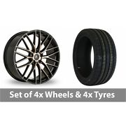 4 X 18 Ac Wheels Syclone Black Alloy Wheel Rims And Tyres - 255/45/18