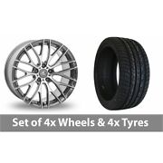 4 X 20 Ac Wheels Syclone Hyper Silver Alloy Wheel Rims And Tyres - 255/45/20