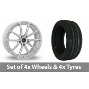 4 X 19 Ac Wheels Cruze Silver Alloy Wheel Rims And Tyres - 225/35/19