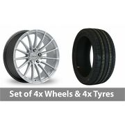 4 X 20 Inovit Force 5 Silver Alloy Wheel Rims And Tyres - 255/35/20