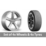 4 X 19 Diewe Trina Silver Alloy Wheel Rims And Tyres - 255/45/19