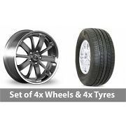 4 X 20 Diewe Sogno Grey Alloy Wheel Rims And Tyres - 275/55/20