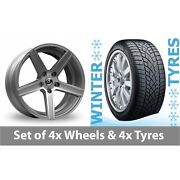 4 X 20 Diewe Cavo Silver Alloy Wheel Rims And Tyres - 265/35/20