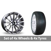 4 X 20 Bola Xtr Silver Polished Alloy Wheel Rims And Tyres - 265/50/20