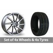 4 X 19 Bola Zzr Silver Polished Alloy Wheel Rims And Tyres - 235/35/19