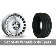 4 X 18 Bola B12 Silver Polished Face Alloy Wheel Rims And Tyres - 245/50/18
