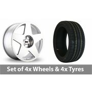 4 X 19 Bola B10 Silver Polished Alloy Wheel Rims And Tyres - 225/35/19