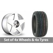 4 X 19 Bola B10 Silver Polished Alloy Wheel Rims And Tyres - 235/50/19