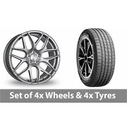 4 X 19 Bola B8r Silver Alloy Wheel Rims And Tyres - 255/45/19