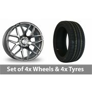 4 X 18 Bola B8r Silver Polished Face Alloy Wheel Rims And Tyres - 245/45/18