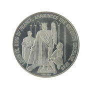 Silver Doubloon Basilica Cathedral Saint St. Louis Ix 7th Crusade 1968 K.f.r.