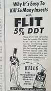 1948 Flit Spray Insecticide Sprayer Kill Insects Original Ad
