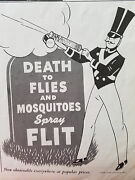 1937 Flit Insecticide Spray Sprayer Death To Flies Mosquitoes Original Ad