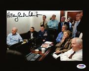 Hillary Clinton Signed Autographed War Room 8x10 Photo Psa/dna