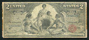 Fr. 247 1896 2 Two Dollars Educational Silver Certificate Note
