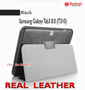 Executive Real Leather Case For Samsung Galaxy Tab 3 8 T310 Black